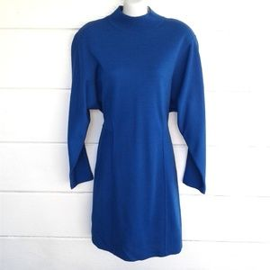 Nordstrom Point of View Blue Sweater Dress Medium